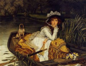 Young Woman in a Boat - Oil Painting Reproduction On Canvas