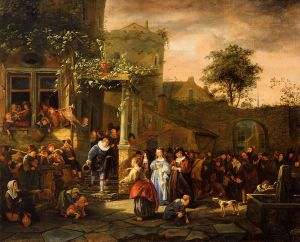 A Village Wedding - Jan Steen oil painting