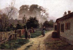 Village Scene II - Oil Painting Reproduction On Canvas