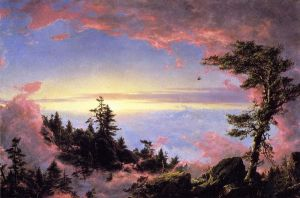 Above the Clouds at Sunrise - Frederic Edwin Church Oil Painting