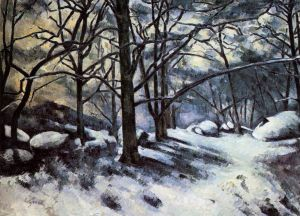 Melting Snow, Fontainbleau - Paul Cezanne Oil Painting