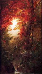 Autumn Landscape, Vermont - Frederic Edwin Church Oil Painting