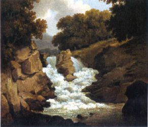 A Waterfall - Robert Salmon Oil Painting