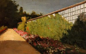 The Wall of the Kitchen Garden, Yerres - Gustave Caillebotte Oil Painting