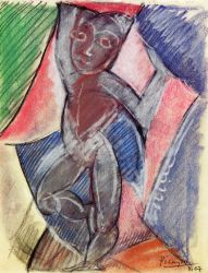 Nude Young Boy - Pablo Picasso Oil Painting