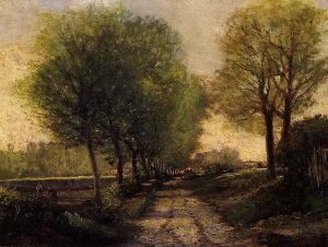 Lane near a Small Town - Alfred Sisley Oil Painting