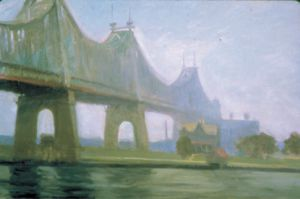 Queensborough Bridge - Edward Hopper Oil Painting