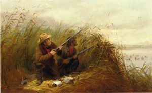 Duck Shooting with Decoys - Arthur Fitzwilliam Tait Oil Painting