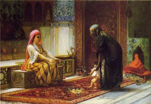 Mother and Child - Frederick Arthur Bridgeman Oil Painting