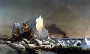 Sealers Crushed by Icebergs - William Bradford Oil Painting