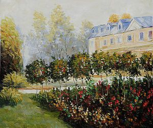 The Garden at Fontenay, 1874 -   Pierre Auguste Renoir Oil Painting