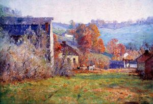 The Old Mills - Theodore Clement Steele Oil Painting