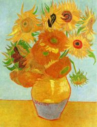 Vase with Twelve Sunflowers - Vincent Van Gogh Oil Painting