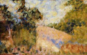 Pink Landscape - Georges Seurat Oil Painting
