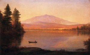 Mount Katahdin from Millinocket Camp - Frederic Edwin Church Oil Painting