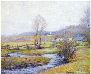 Early Spring, Pleasant Valley, Connecticut - Robert Vonnoh Oil Painting