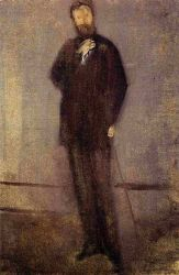 Study for the Portrait of F. R. Leyland - James Abbott McNeill Whistler Oil Painting