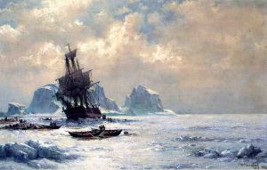 Caught in the Ice - William Bradford Oil Painting