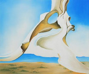 Pelvis with the Distance II - Georgia O'Keeffe Oil Painting