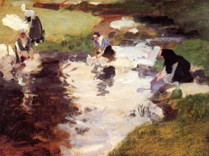 Washerwomen - Oil Painting Reproduction On Canvas