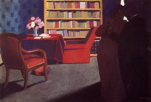 Private Conversation - Felix Vallotton Oil Painting