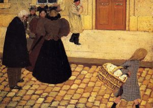 Street Scene - Oil Painting Reproduction On Canvas Felix Vallotton Oil Painting