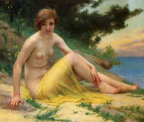 Nude at the Beach - Guillaume Seignac Oil Painting