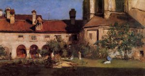 The Cloisters - William Merritt Chase Oil Painting