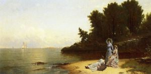 Afternoon by the Shore - Alfred Thompson Bricher Oil Painting
