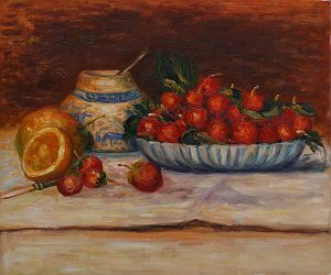 Strawberries - Pierre Auguste Renoir Oil Painting