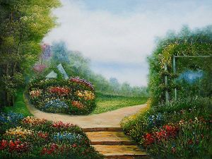 Garden of Serenity - Oil Painting Reproduction On Canvas