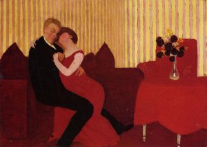 The Lie - Felix Vallotton Oil Painting