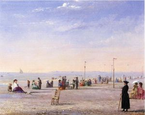 Trouville - Conrad Wise Chapman Oil Painting