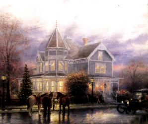 A Castle with All Lights On - Oil Painting Reproduction On Canvas