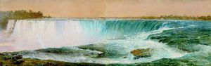 Horseshoe Falls - Frederic Edwin Church Oil Painting