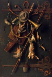 After the Hunt 5 - William Michael Harnett Oil Painting