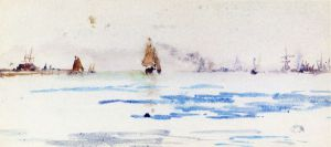 Zuyder Zee - James Abbott McNeill Whistler Oil Painting