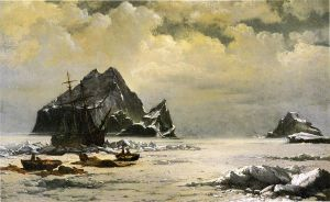 Morning on the Artic Ice Fields - William Bradford Oil Painting