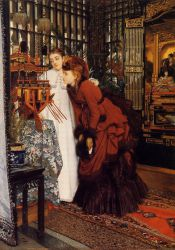 Young Women Looking at Japanese Objects II - Oil Painting Reproduction On Canvas