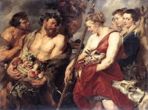 Diana Returning from Hunt - Peter Paul Rubens Oil Painting