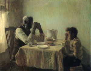 The Thankful Poor -Henry Ossawa Tanner Oil Painting