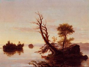 American Lake Scene - Thomas Cole Oil Painting