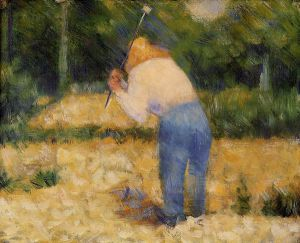 The Stone Breaker III - Georges Seurat Oil Painting