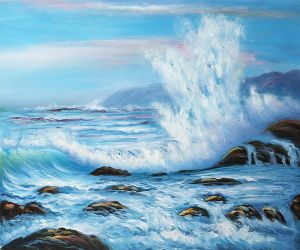 Forceful Winds - Oil Painting Reproduction On Canvas