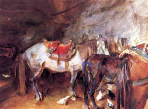Arab Stable - John Singer Sargent Oil Painting