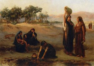 Women Drawing Water from The Nile - Oil Painting Reproduction On Canvas