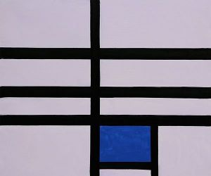 Composition with Blue, 1935 - Piet Mondrian Oil Painting