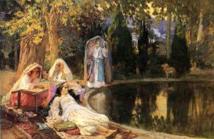 In the Garden at Mustapha - Oil Painting Reproduction On Canvas