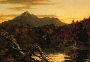 Autumn Twilight: View of Copway Peak - Thomas Cole Oil Painting