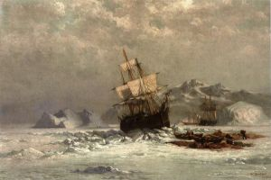 Locked in Ice - William Bradford Oil Painting